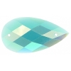 Opal Bright Sew-on Stone 10pcs Drop 16x30mm Turquoise Aurora Borealis